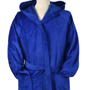 badjas velours kobaltblauw