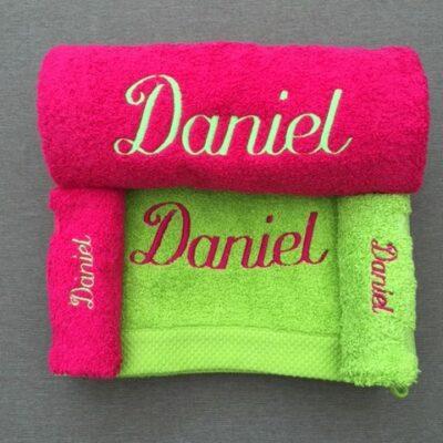 Pakket Daniel: bestaat uit 2 handdoeken, 2 washandjes