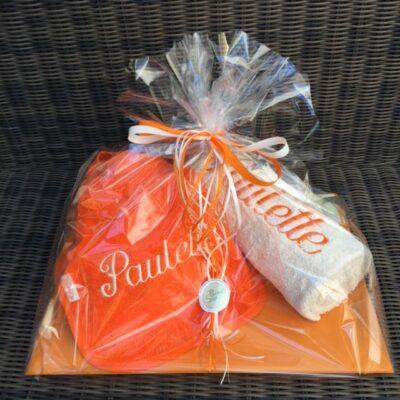 pakket Paulette: bestaat uit slab - handdoek - richtprijs 31 euro