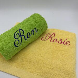 Sensa Pure handdoek 50CM x 100CM, handdoek met naam, borduren met tekst