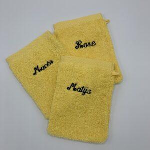 Sensa Pure washandje 15cm x 21cm, washandje met naam, borduren met tekst